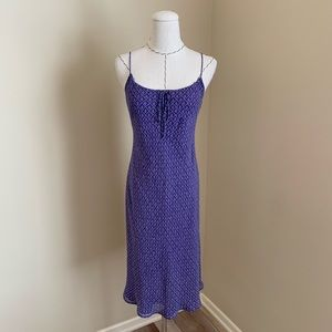Ann Taylor Silk Slip Purple Dress 90s Style sz 2